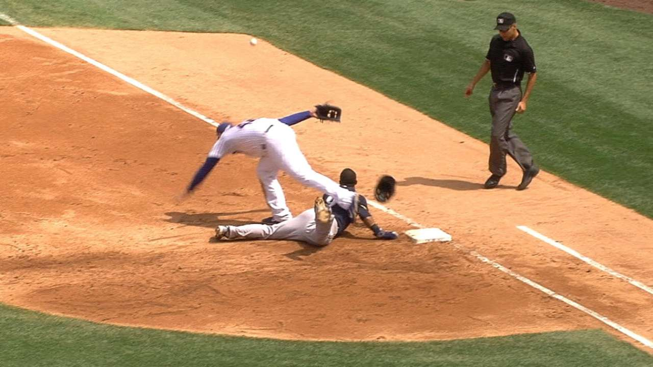 Brewers' four stolen bases