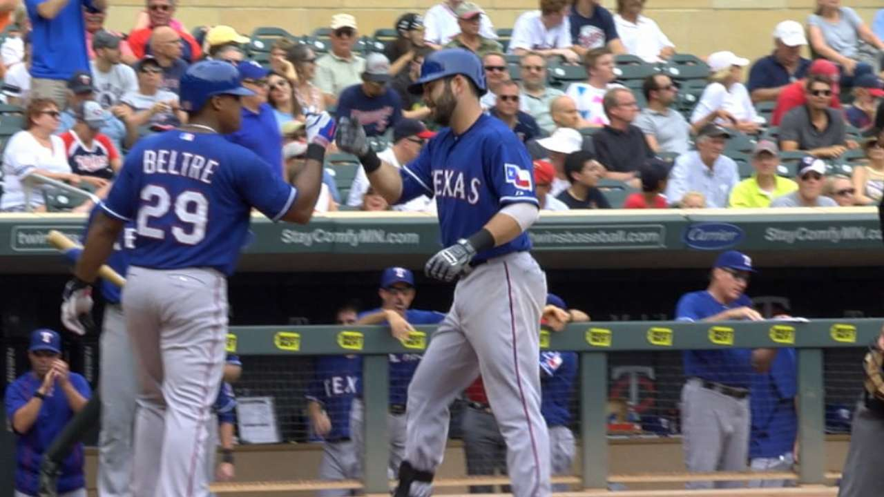 Down 4, Rangers battle back to defeat Twins