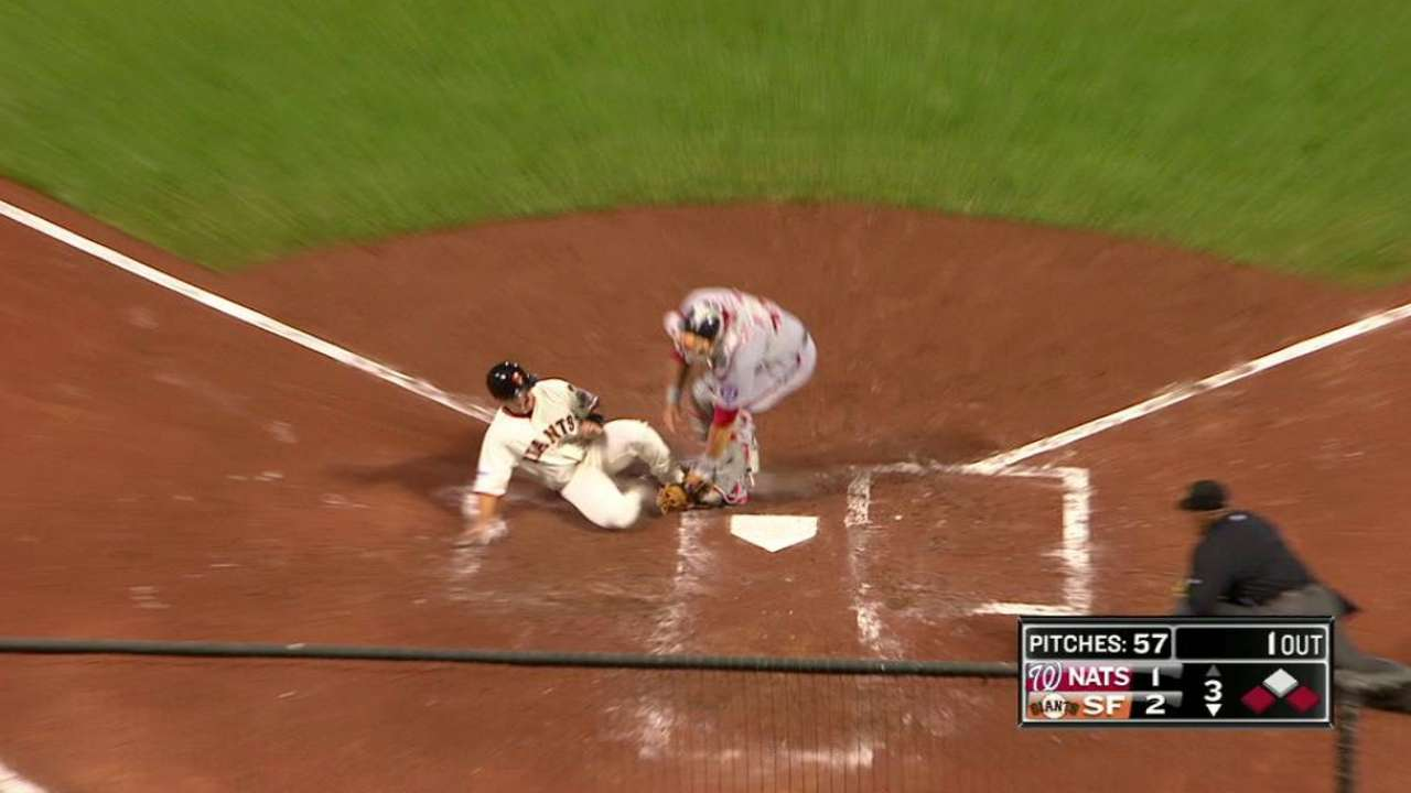 Harper throws out Posey