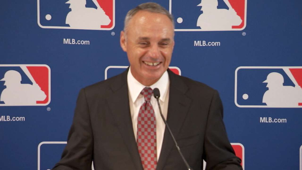 Manfred proud of game's balance, growth