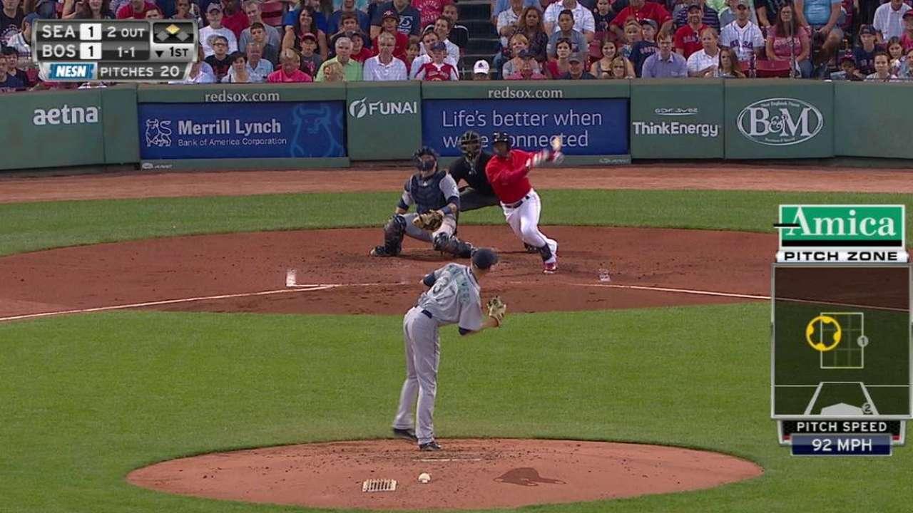 Boston apalea a Seattle y dedican triunfo a Farrell
