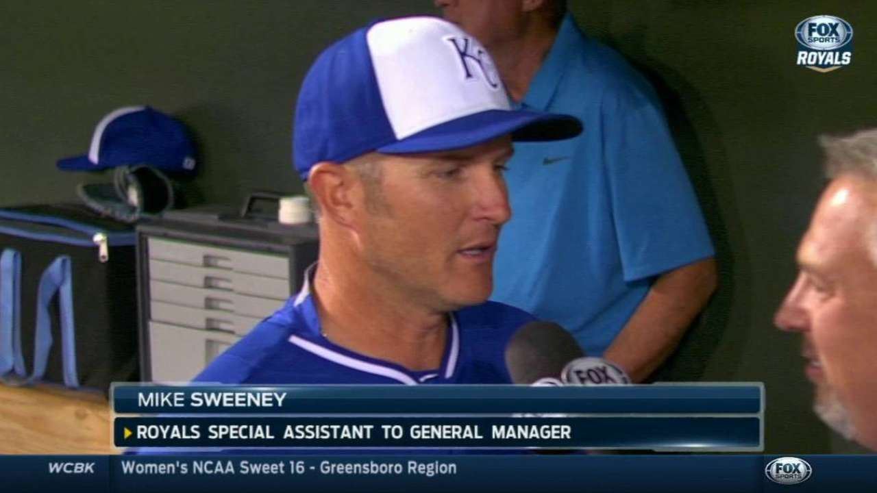 Switch to first set Sweeney's path with Royals