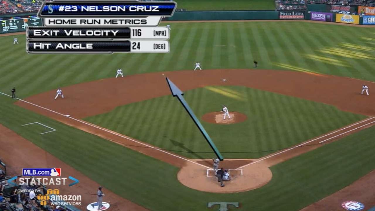 Statcast tracks Cruz's long ball