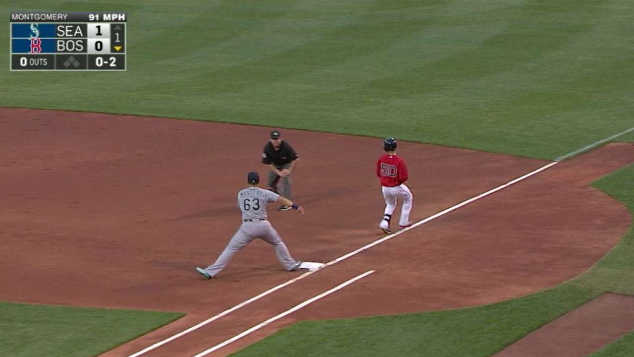 Seager gets the out after review