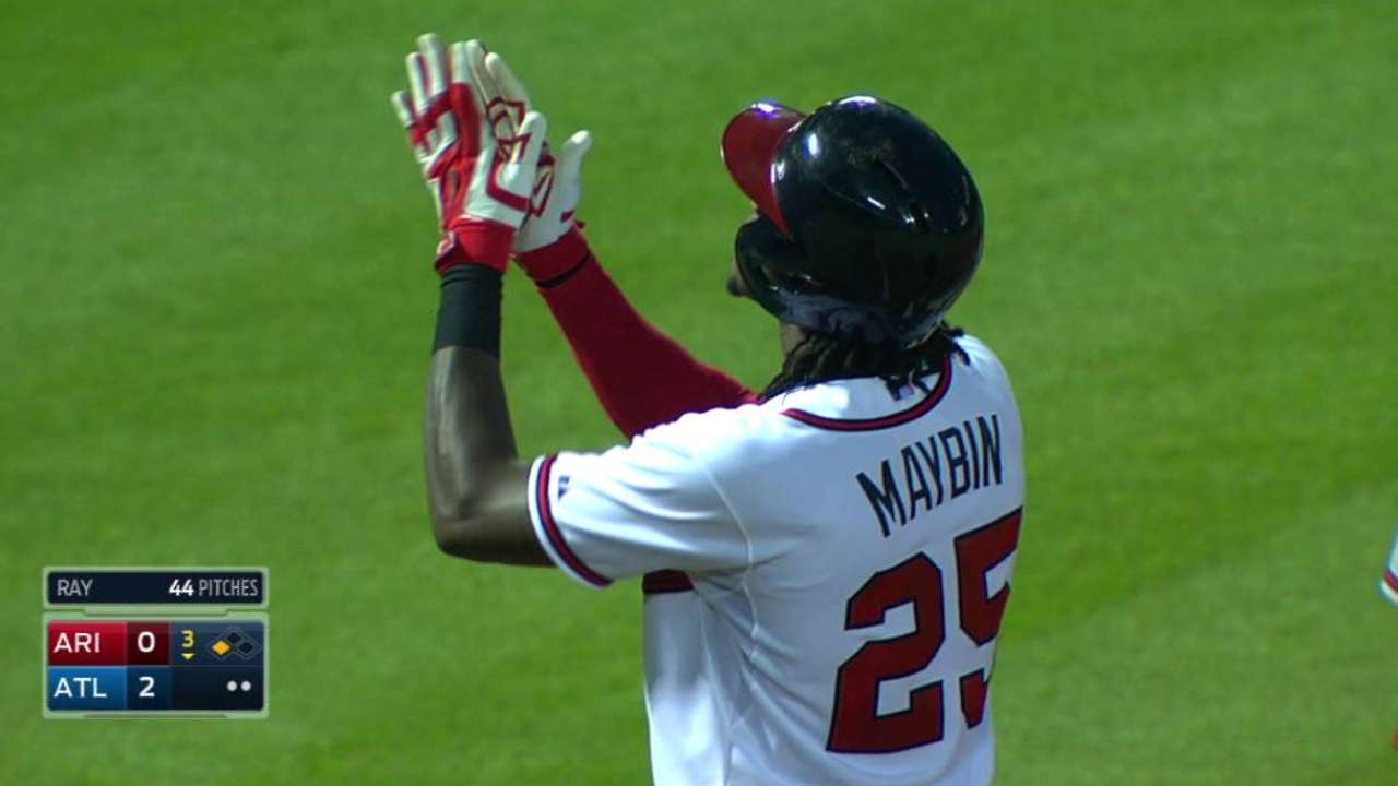 Maybin's RBI triple