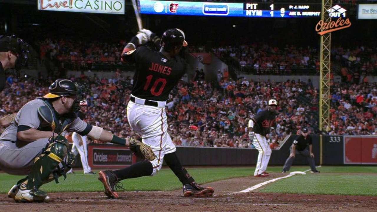 Jones' 20th home run