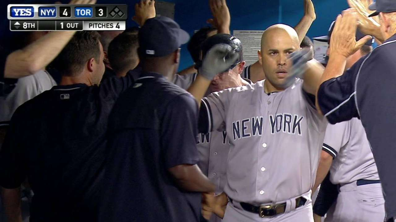 Dramatic Beltran blast helps Yanks reclaim first