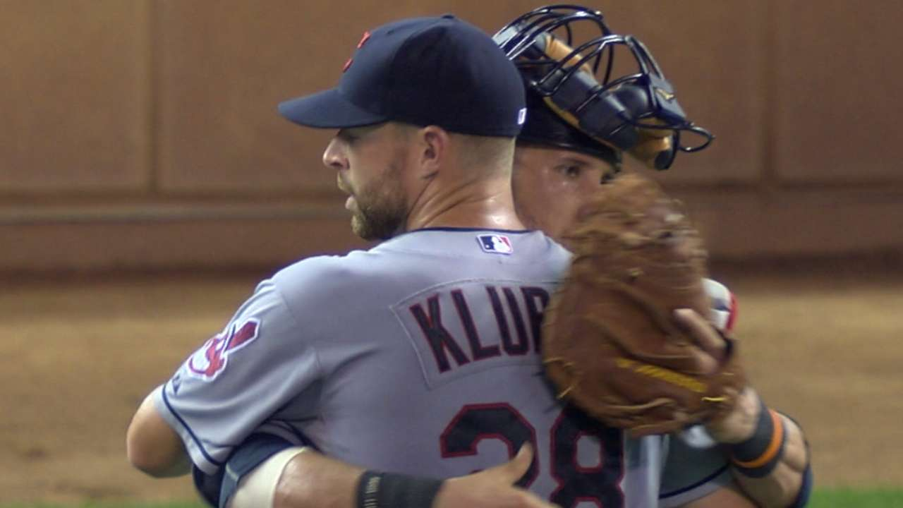Dominant Kluber settles for one-hitter vs. Twins