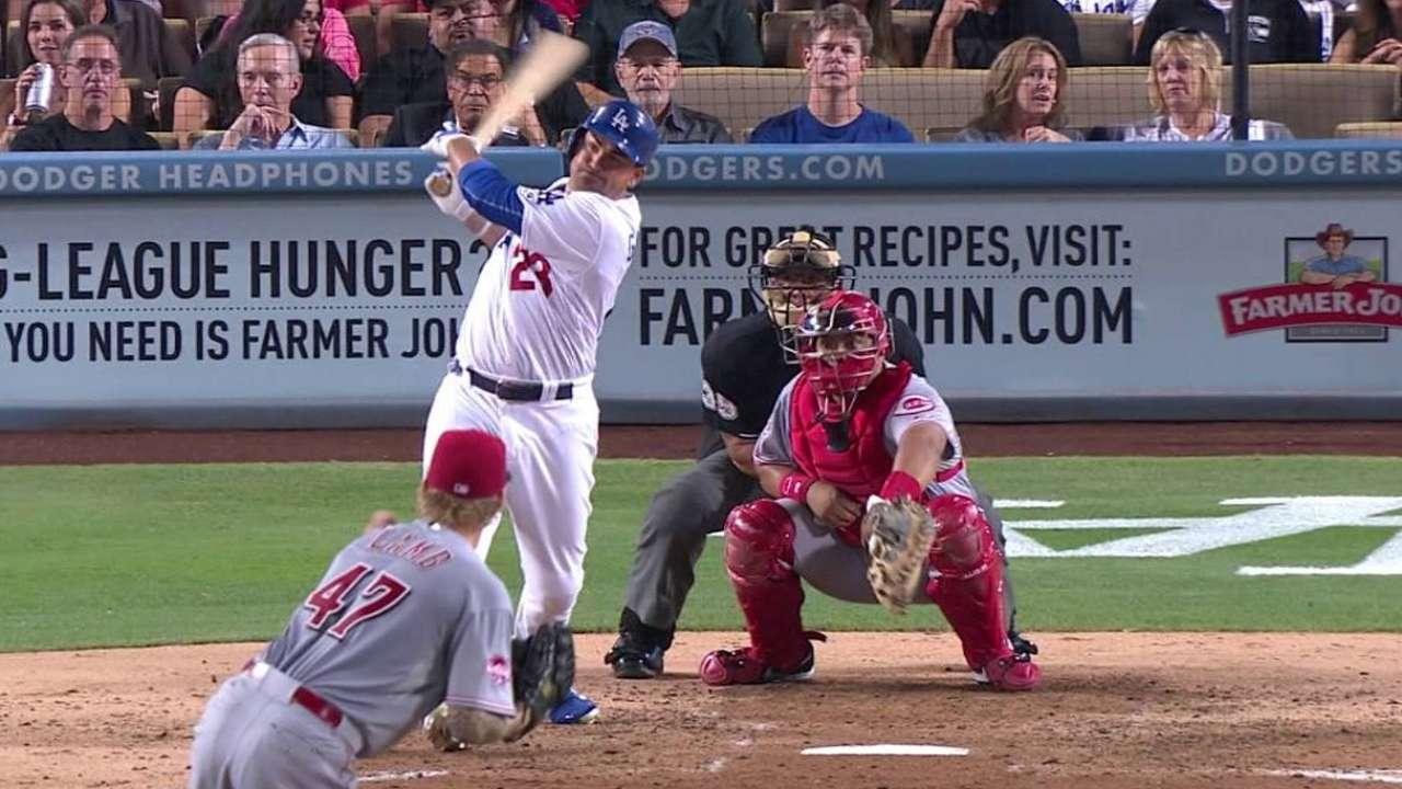 Gonzo's blast backs Wood in first Dodgers win
