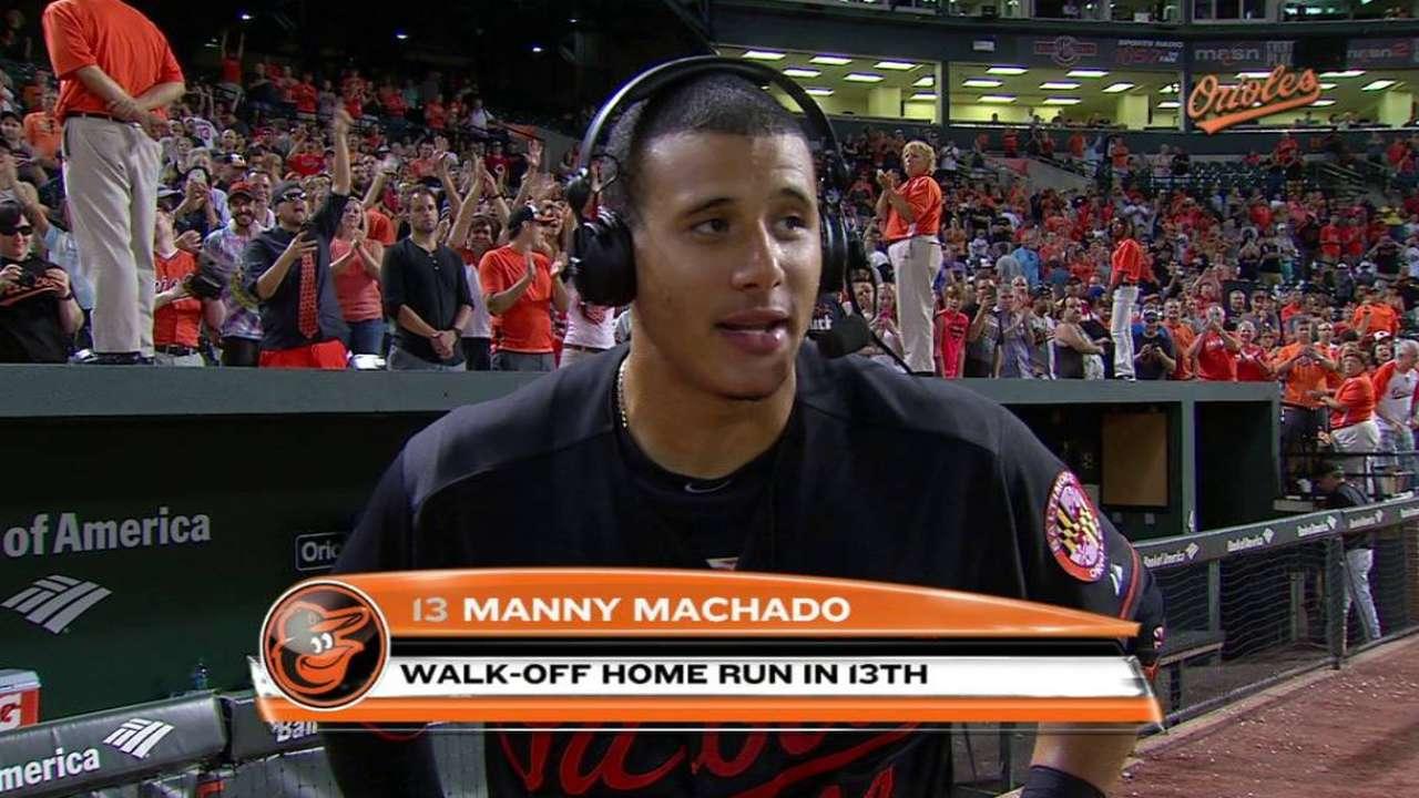 Machado on walk-off home run
