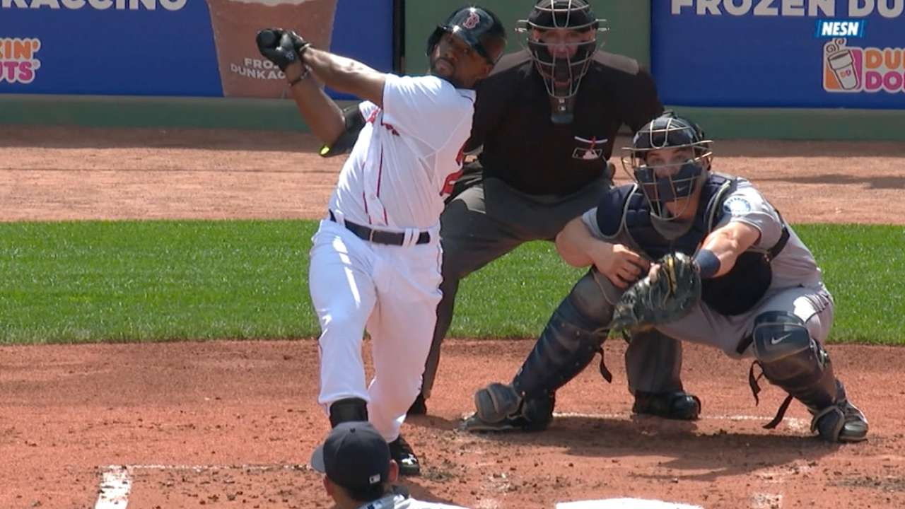 Red Sox bats put on historic display