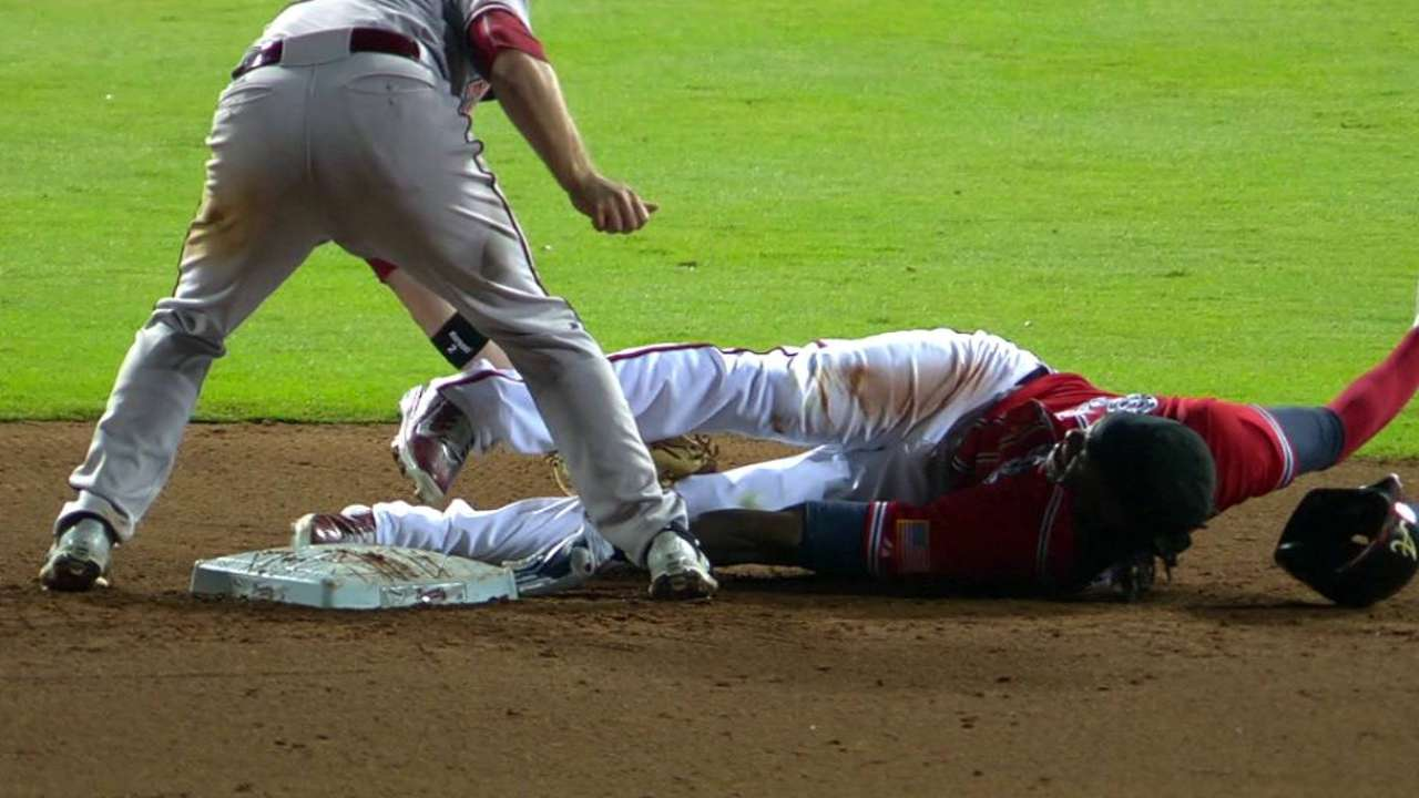 Maybin avoids tag for double