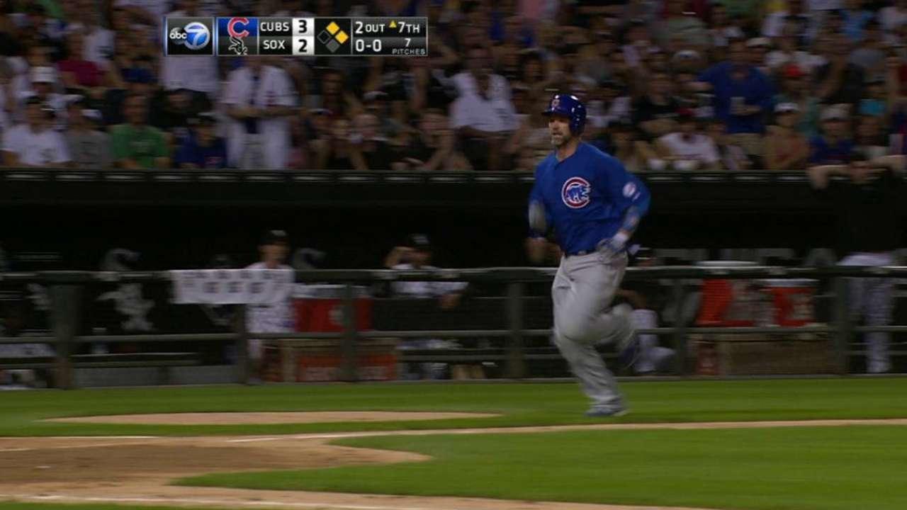 Ross scores a run
