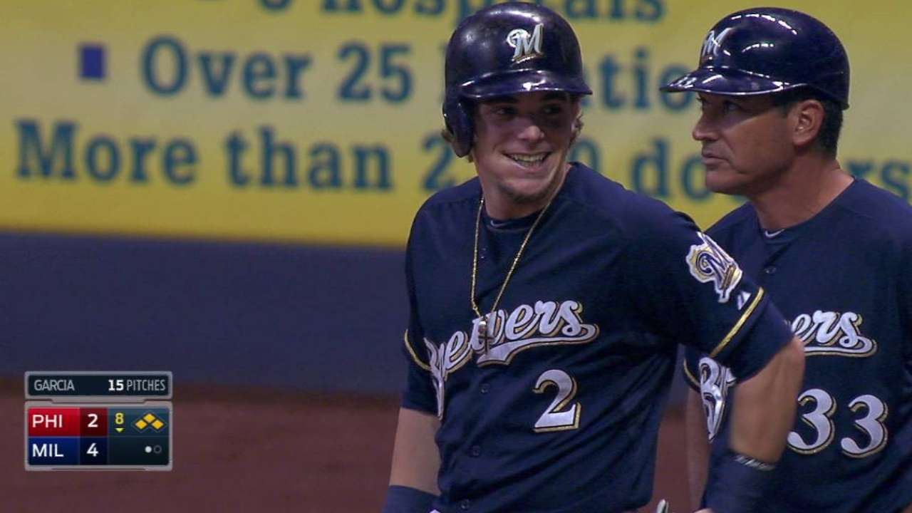 Gennett sets career high with four-hit night