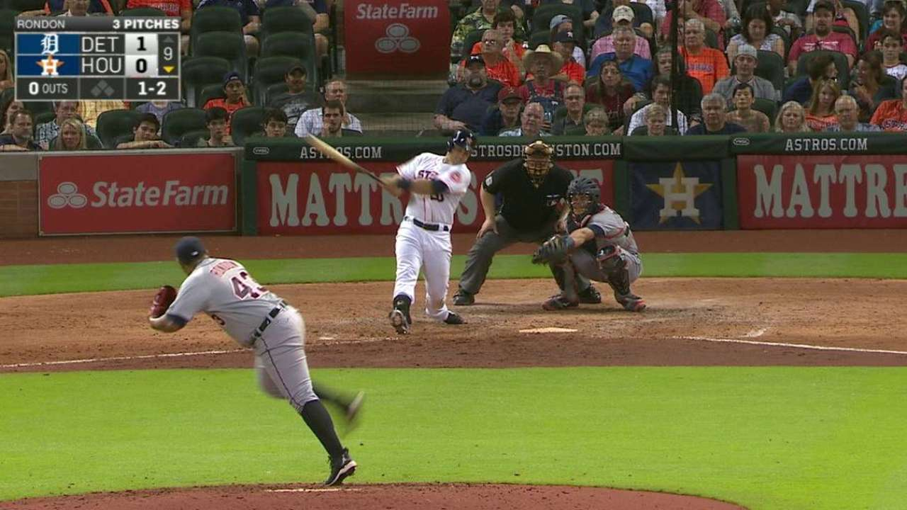 Tucker out: Astros rookie stings Tigers again