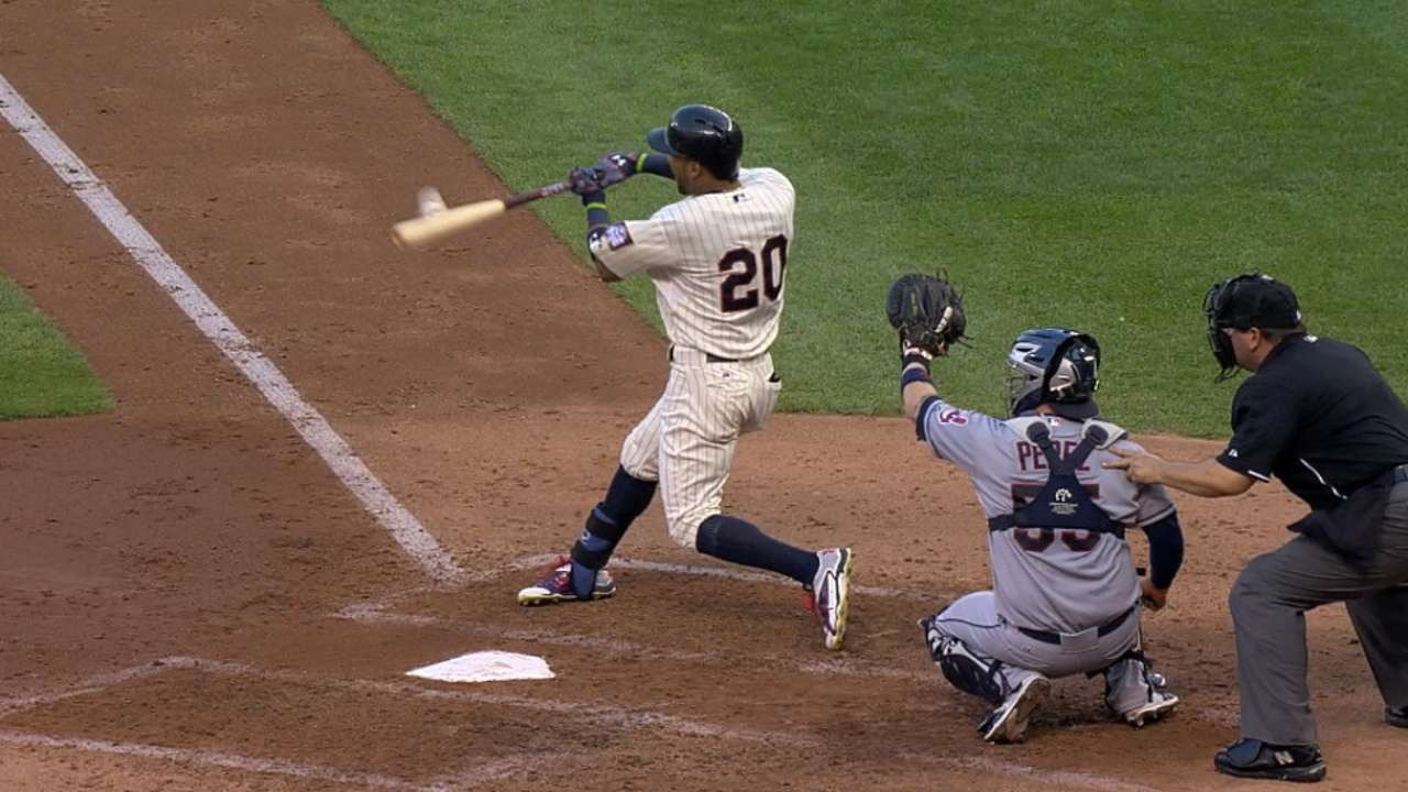 Twins hit back-to-back homers