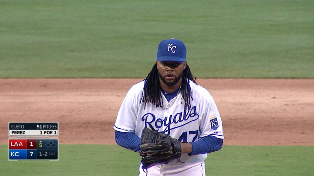 Cueto gaining comfort in KC after latest solid start