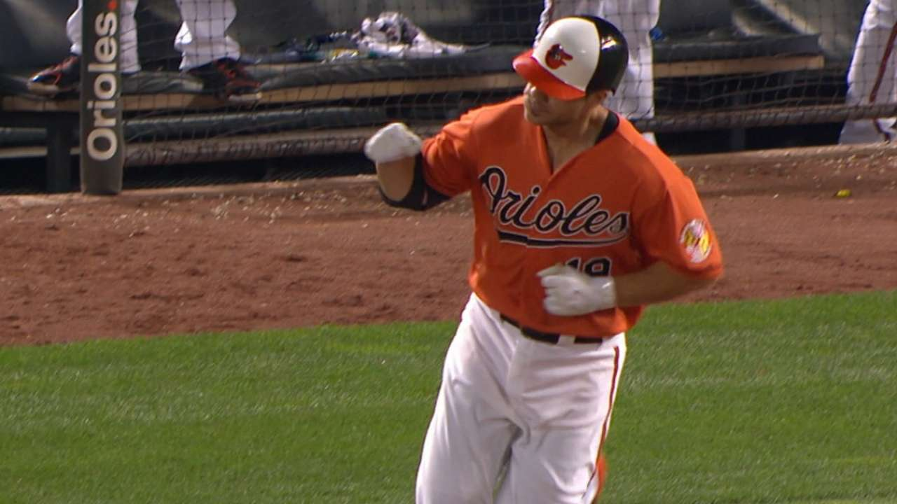Davis' HR gives O's 2nd walk-off in row vs. A's