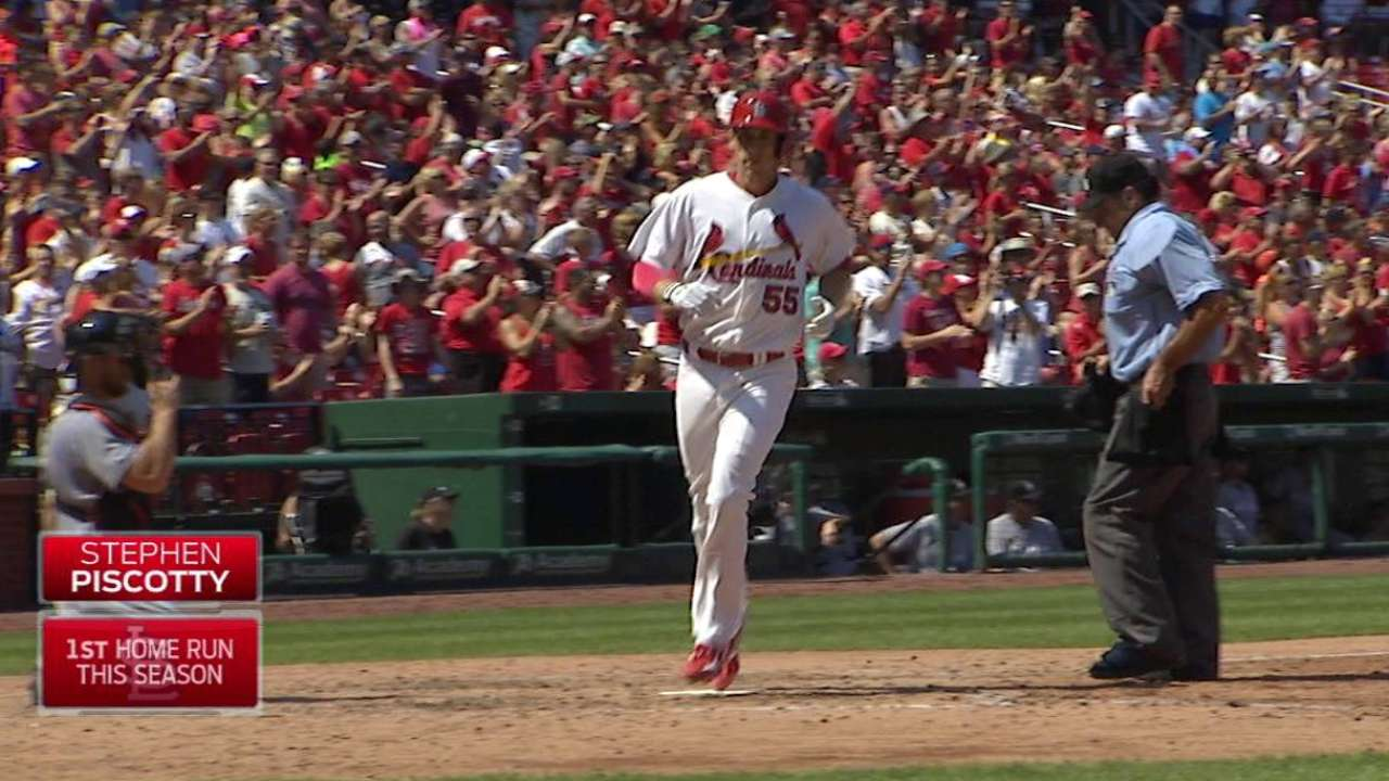 Piscotty's first career homer