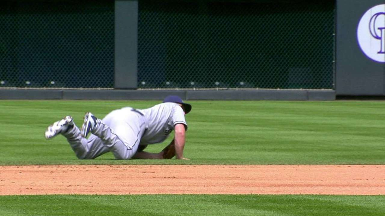 Gyorko's diving catch