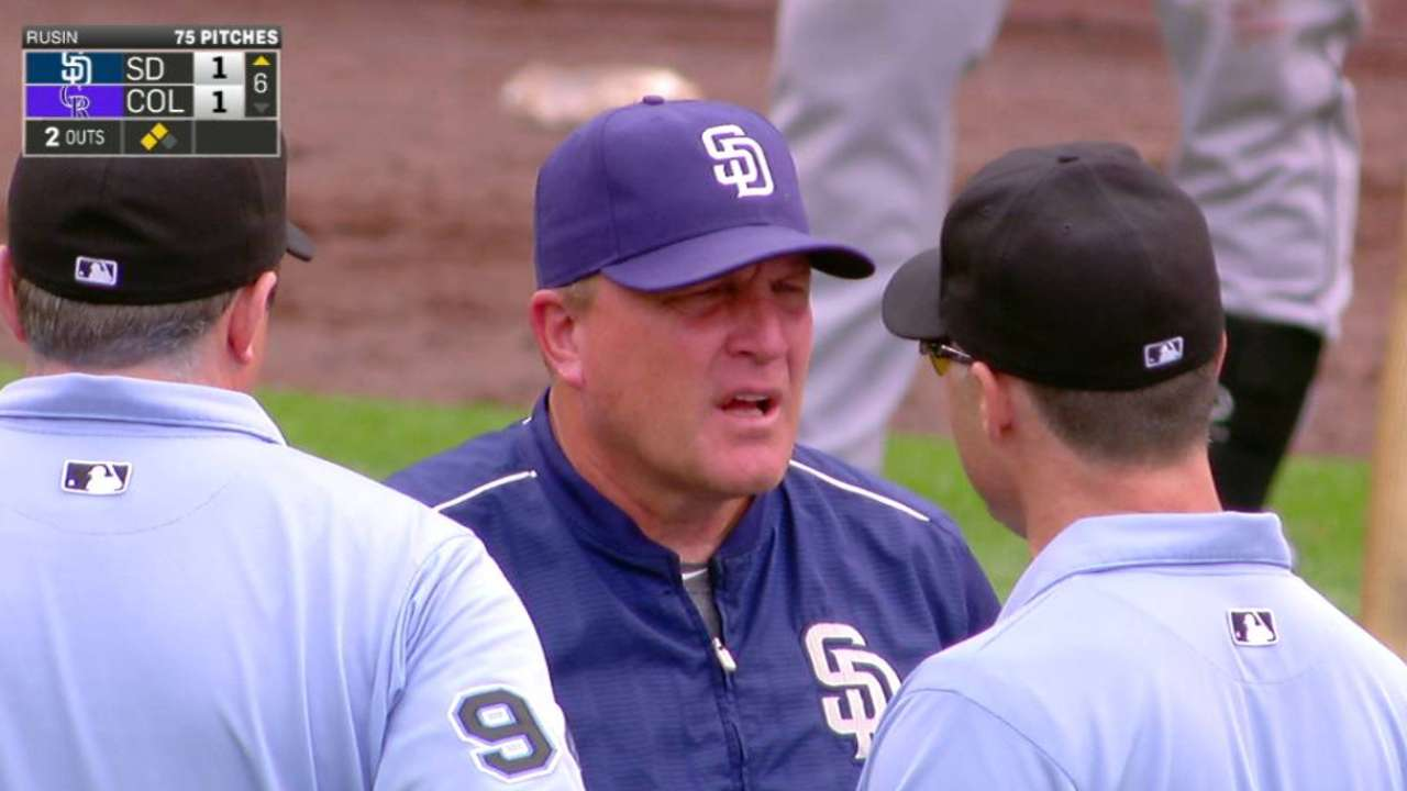 Murphy ejected after balk call is reversed