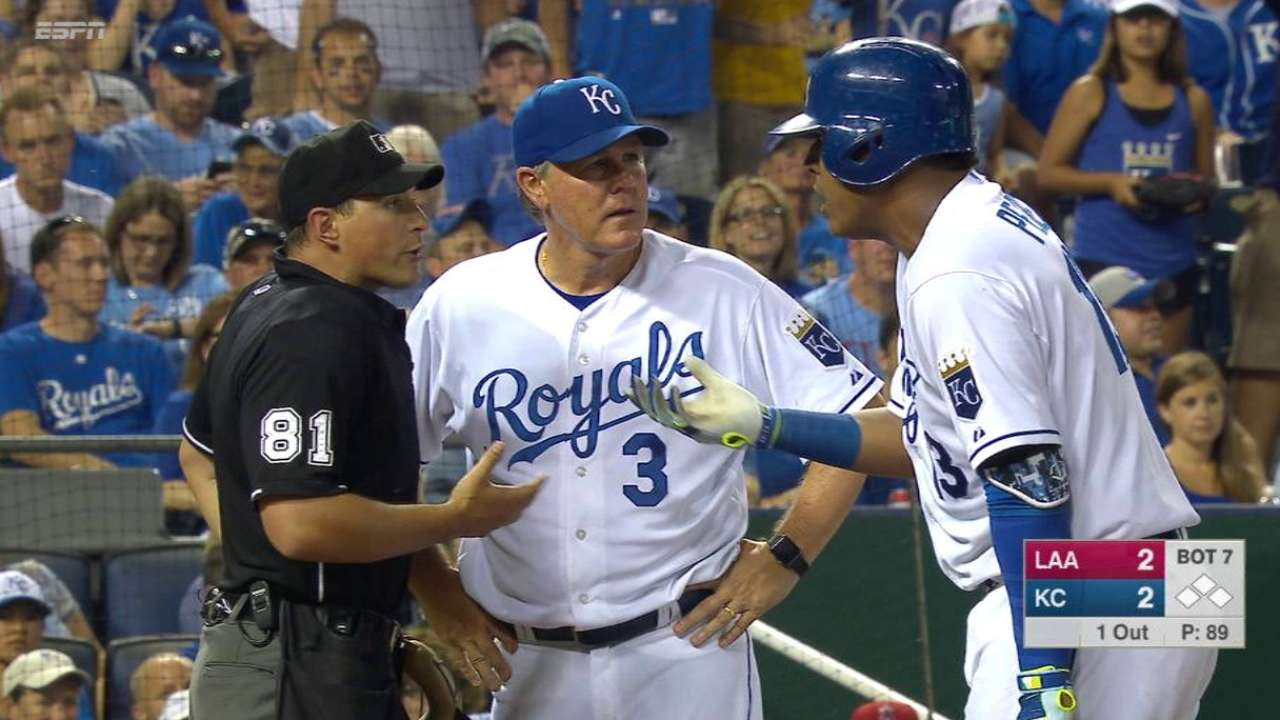 Perez ejected in the 7th
