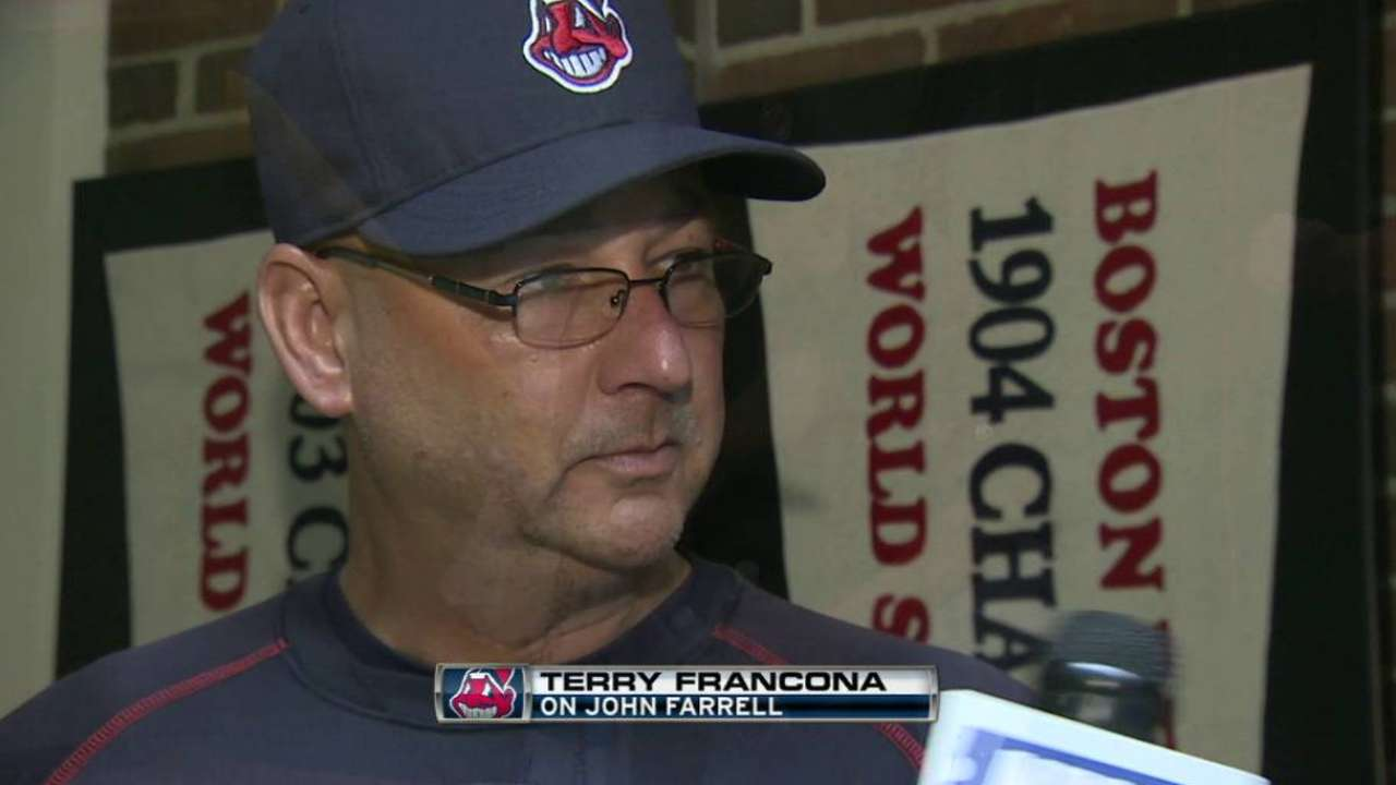Francona on working with Farrell