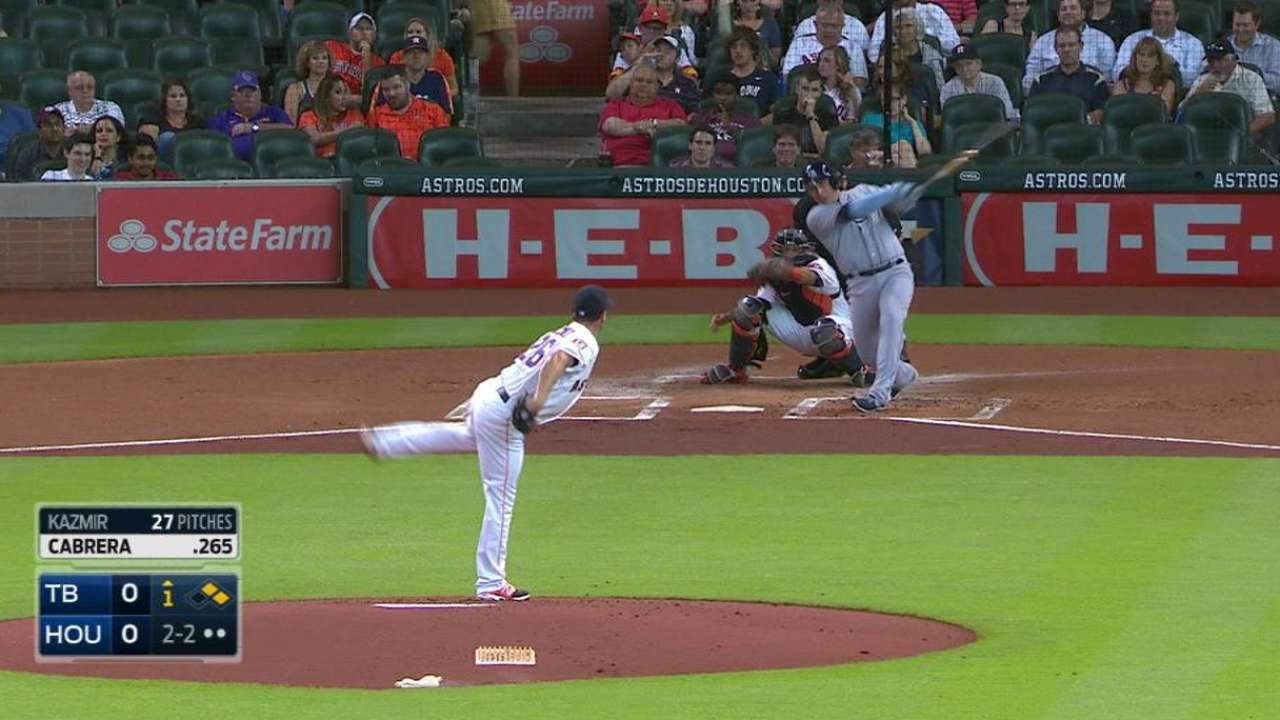 Bad breaks, bad pitch set tone early for Astros
