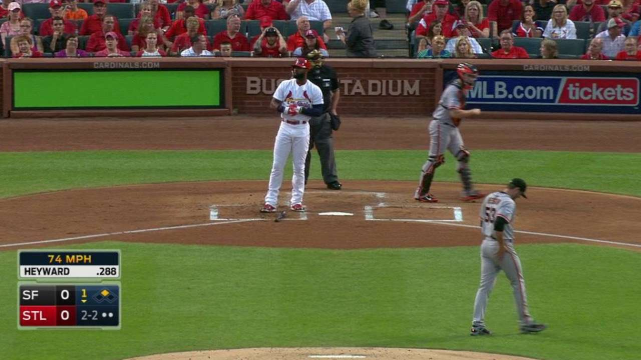 Cards play it safe with Heyward's hamstring