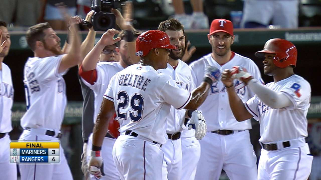 Rangers walk off with win over Mariners