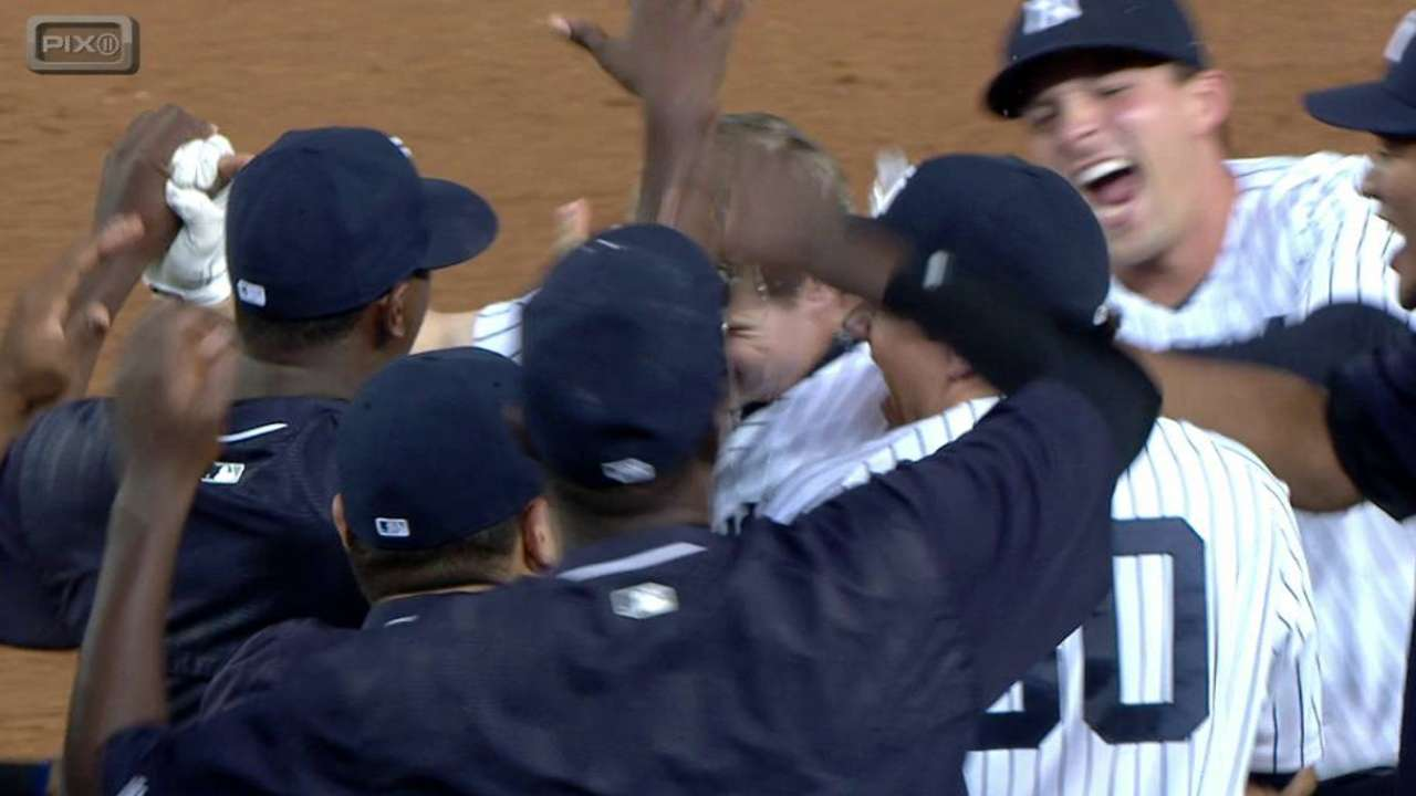Yankees outlast Twins, walk off in 10th inning