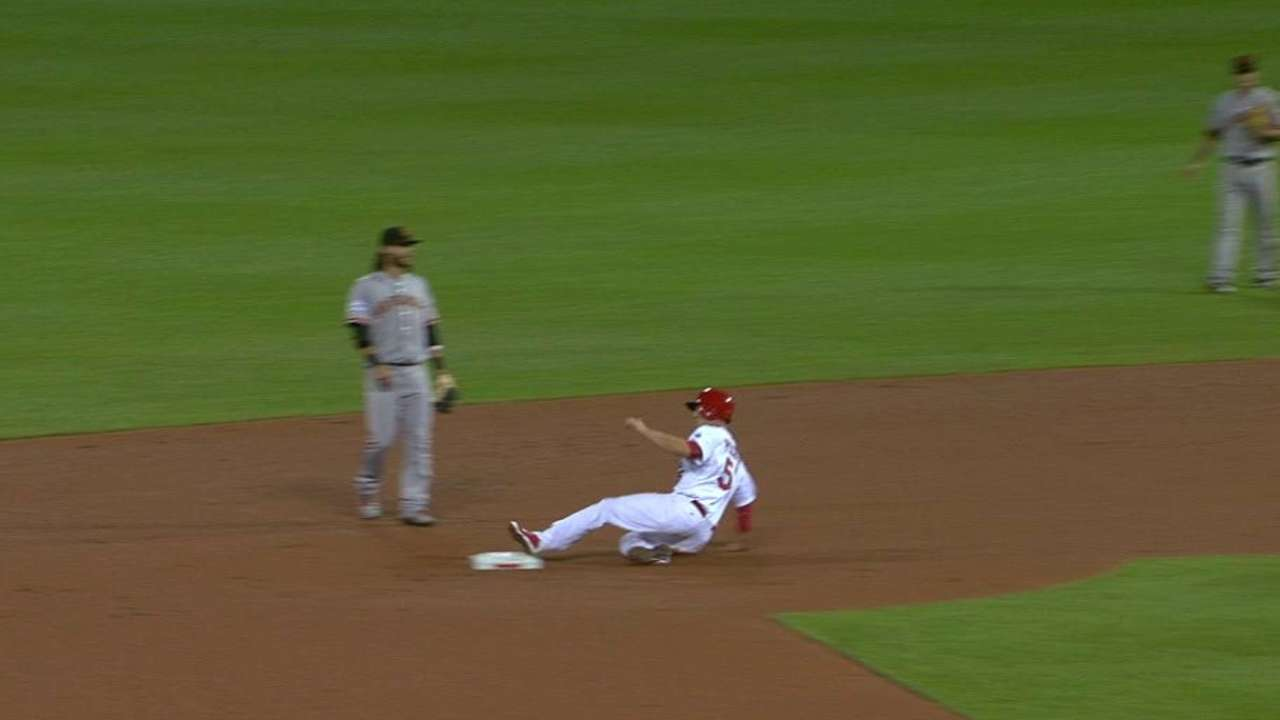 Piscotty's first career steal