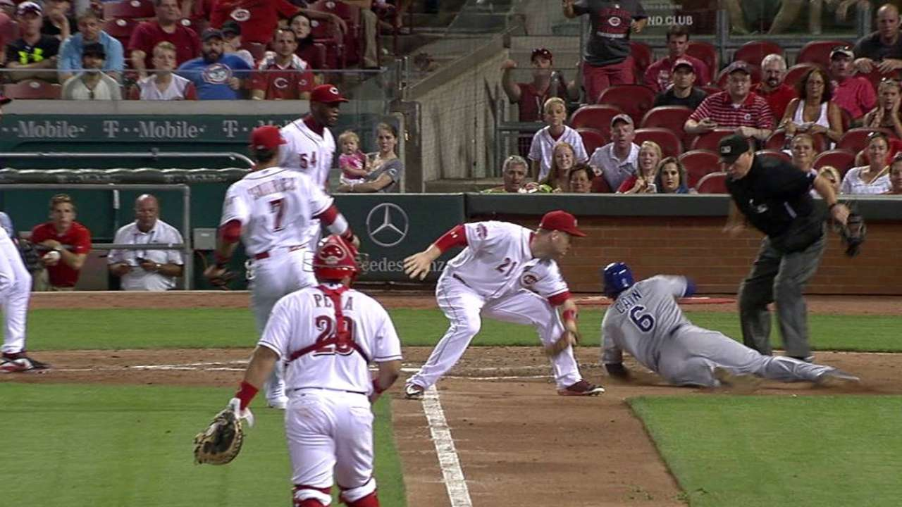 Reds win 2 key reviews; Yost ejected in 11th