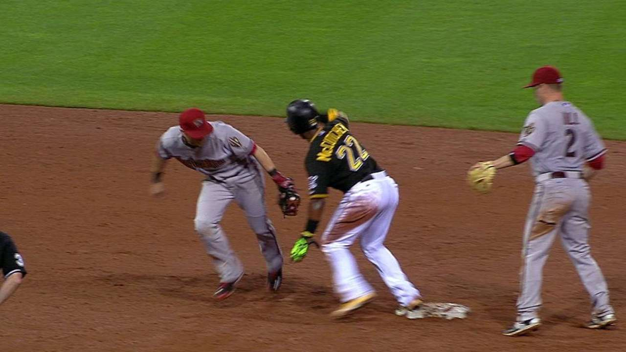 Goldy's slick play helps D-backs force extras