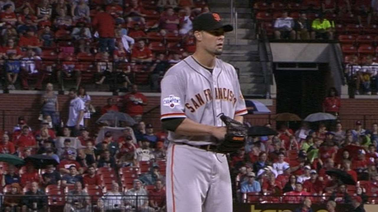 Vogelsong leads Giants to shutout of Cards