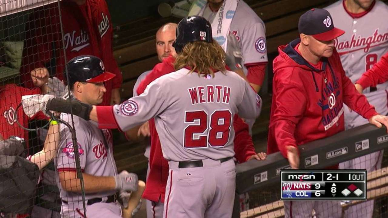 Werth's move to leadoff spot pays off quickly