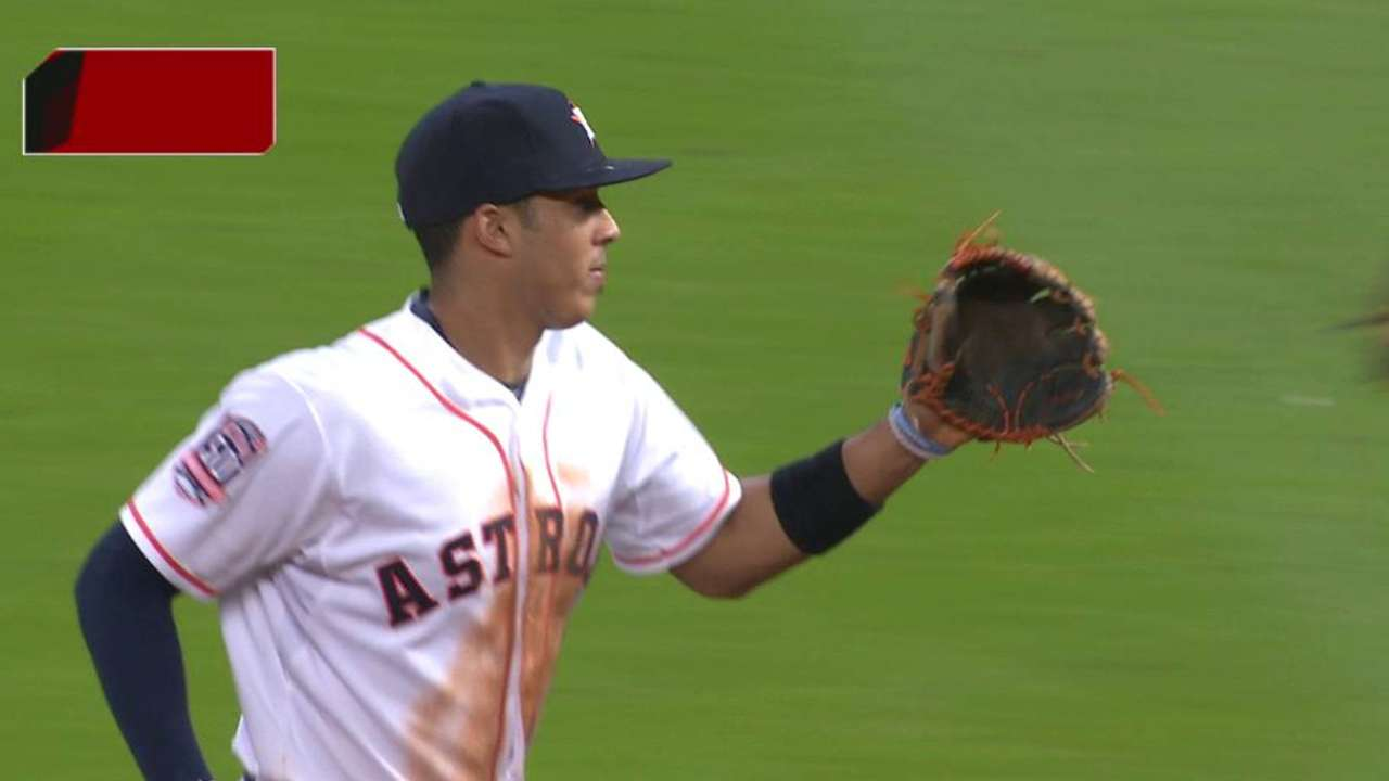 Correa recovers to get the out
