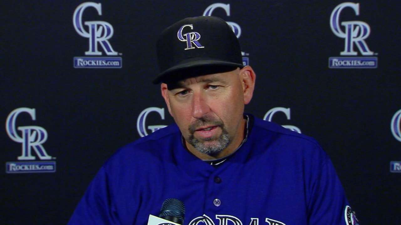 Weiss on bullpen, loss to Nats
