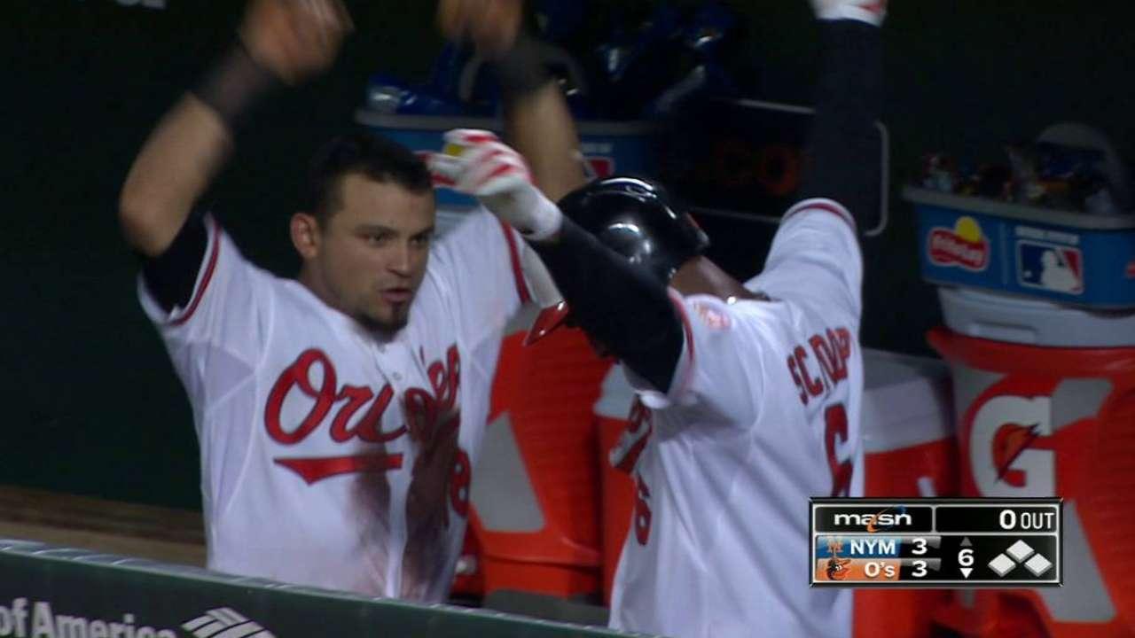 Schoop's game-tying homer