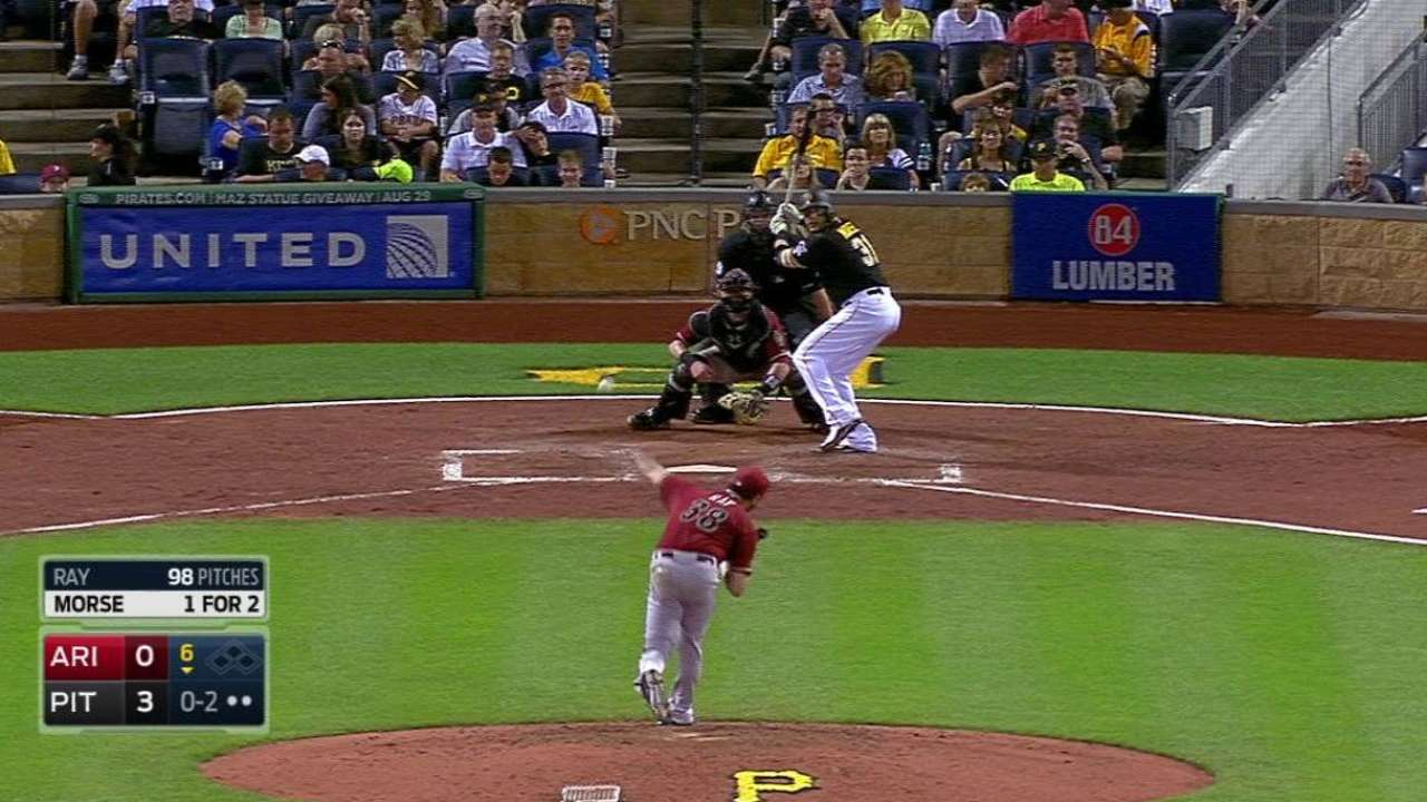 Ray fans Morse to end the 6th