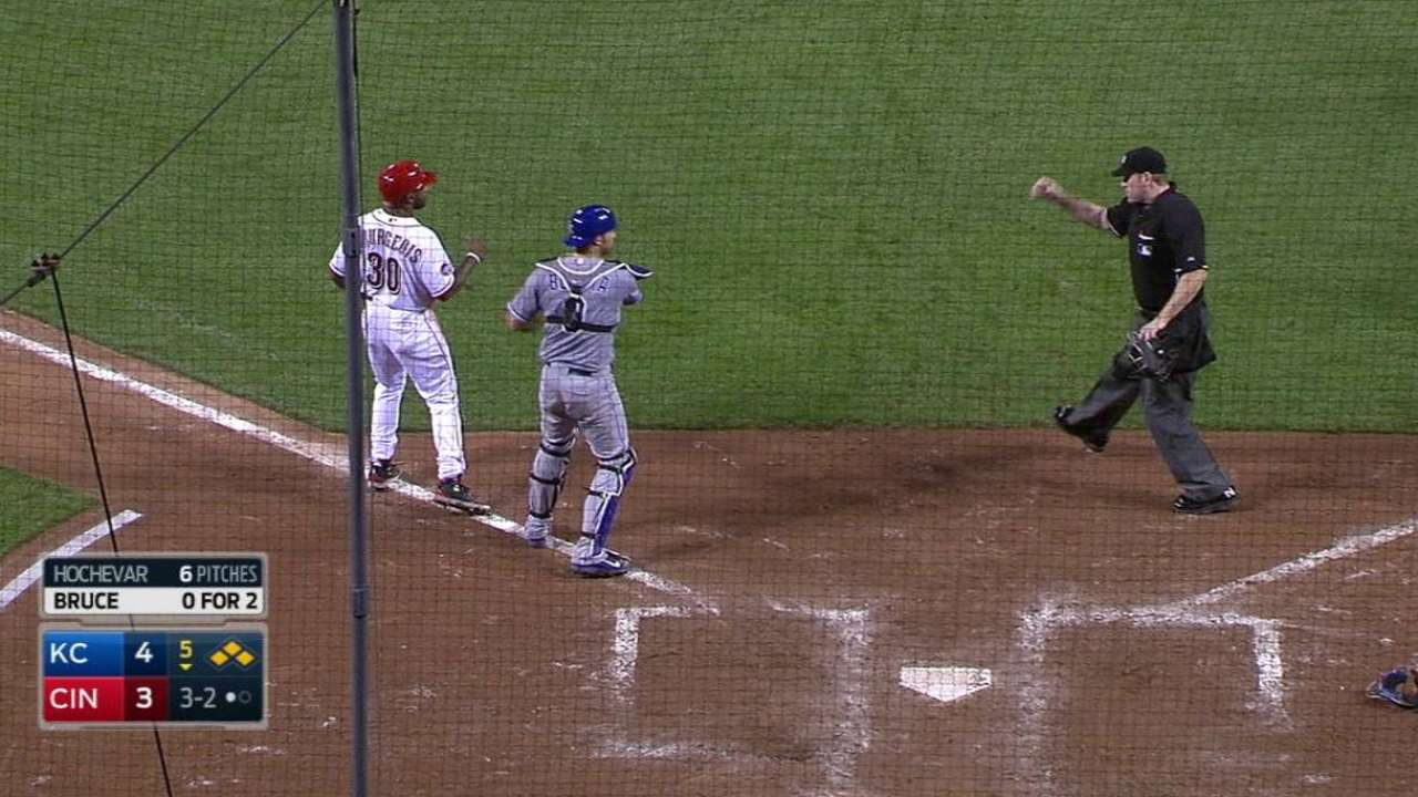 Reds caught for odd double play on infield fly