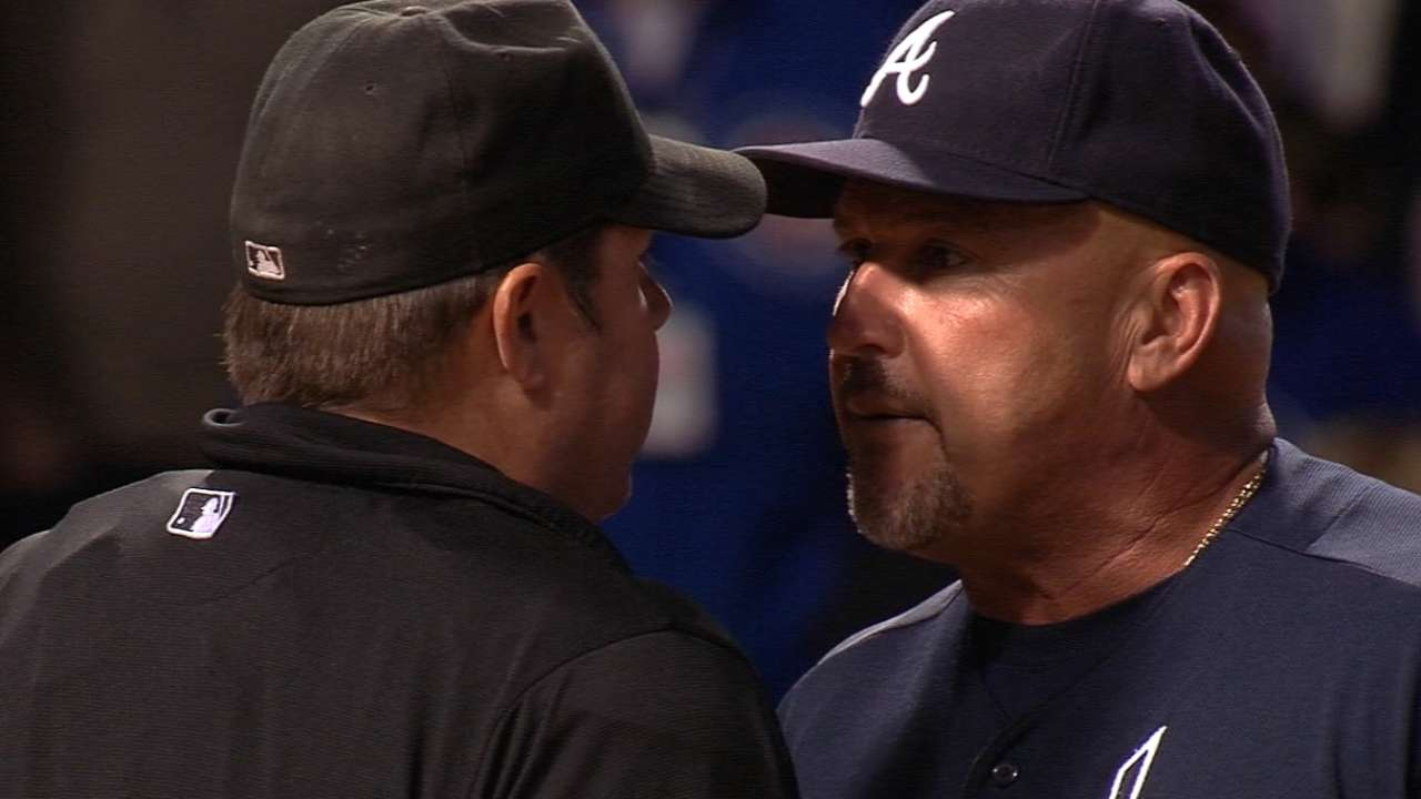 Fredi tossed after arguing with home-plate ump