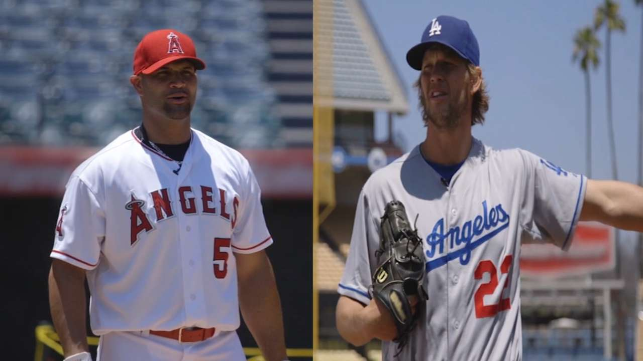 Pujols, Kershaw team up for Wiffle ball game