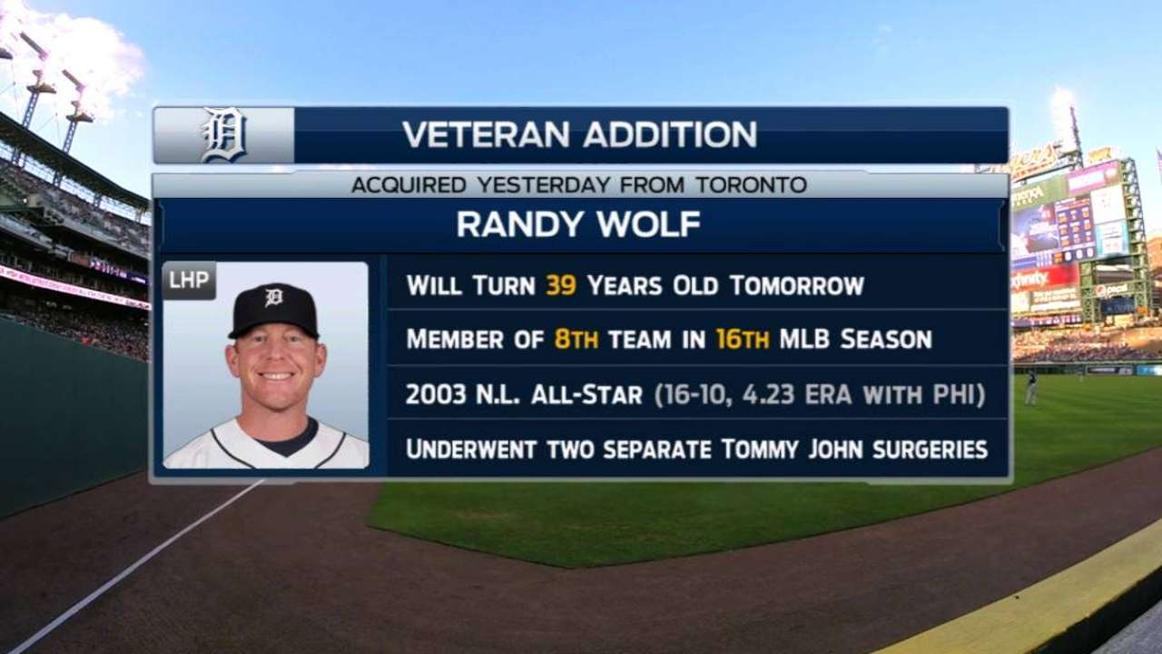 Wolf thankful for opportunity with Tigers