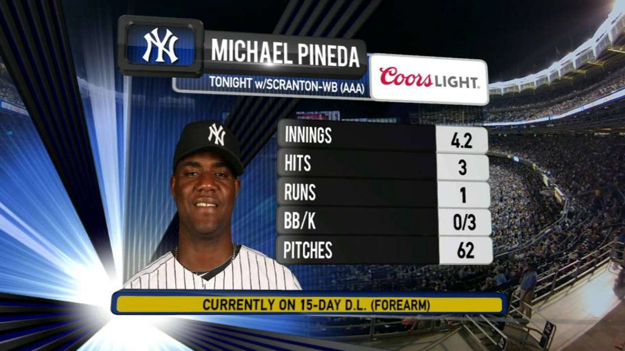 Pineda's rehab start generates positive reports
