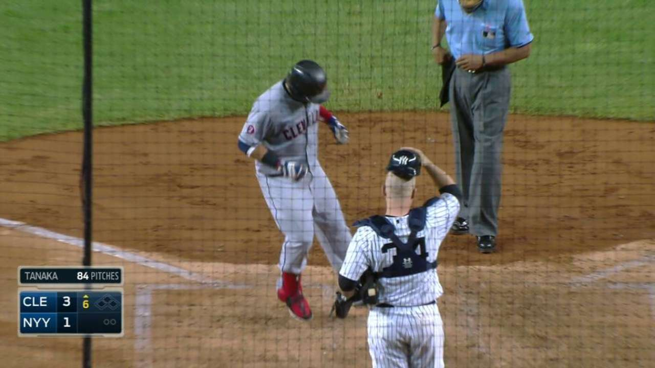 Indians withstand Yankees' charge, pull away