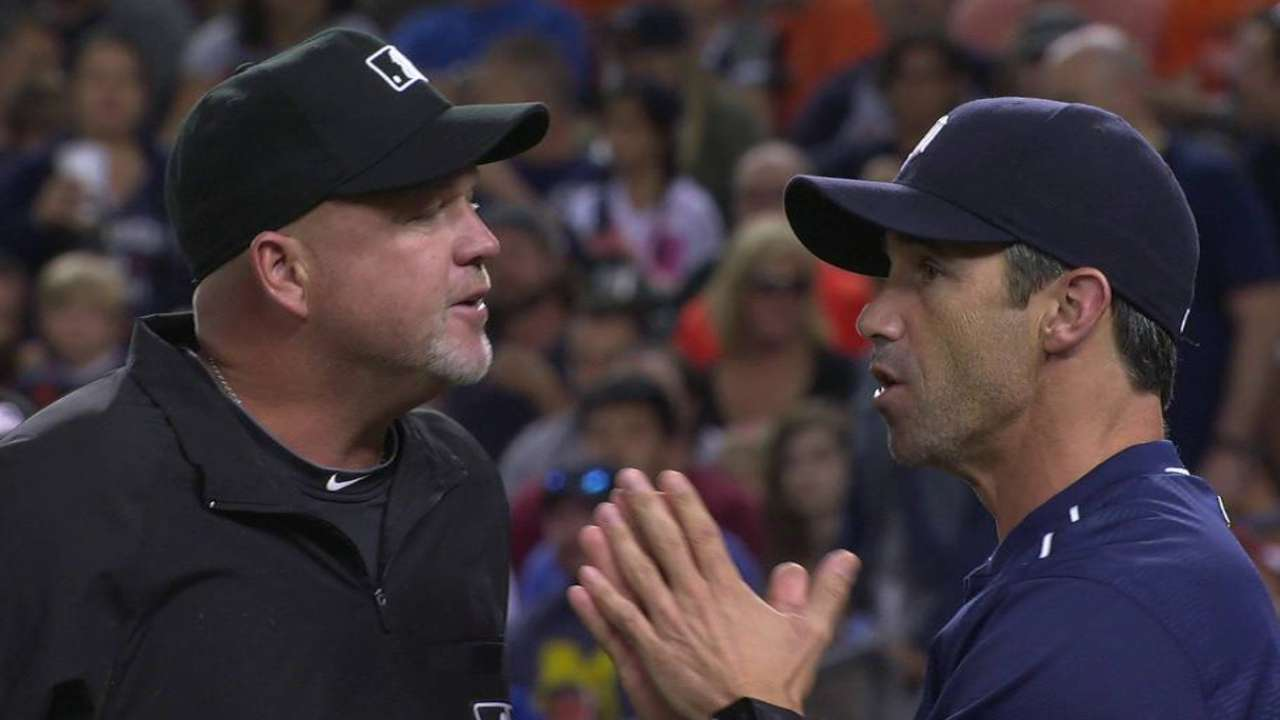 Ausmus ejected after asking for answers following replay