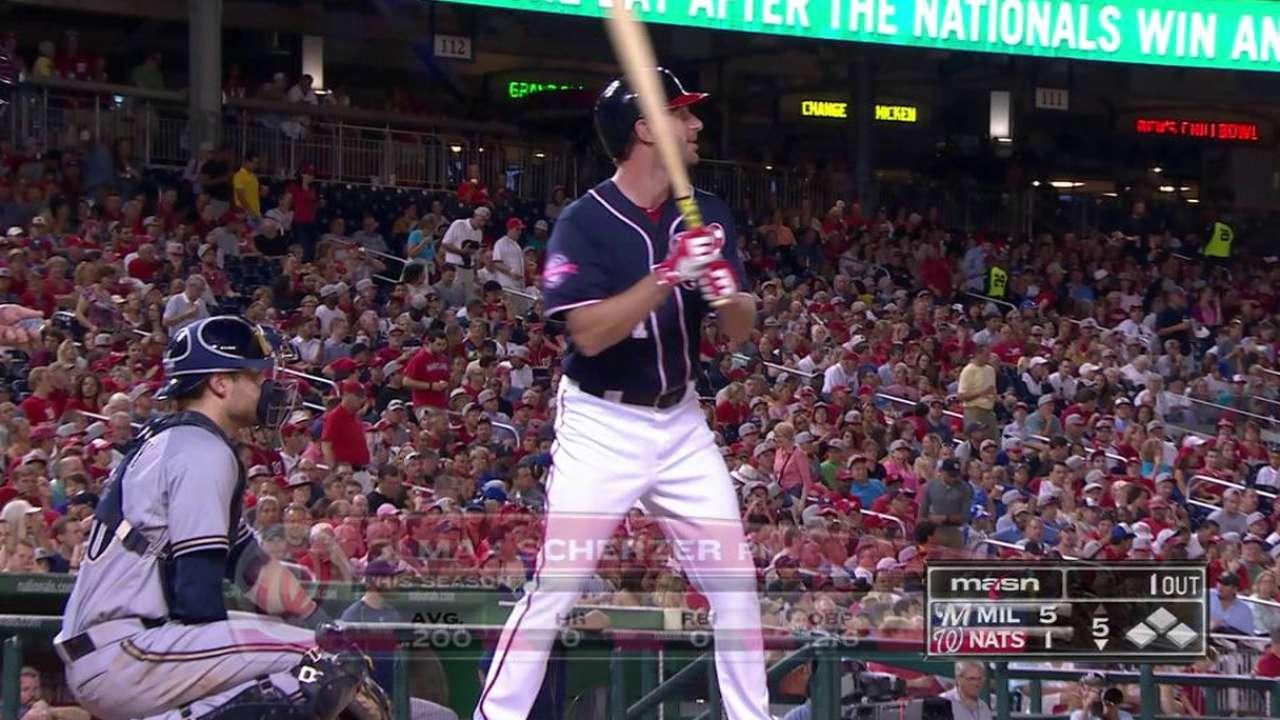 Scherzer lines out in rare pinch-hit at-bat