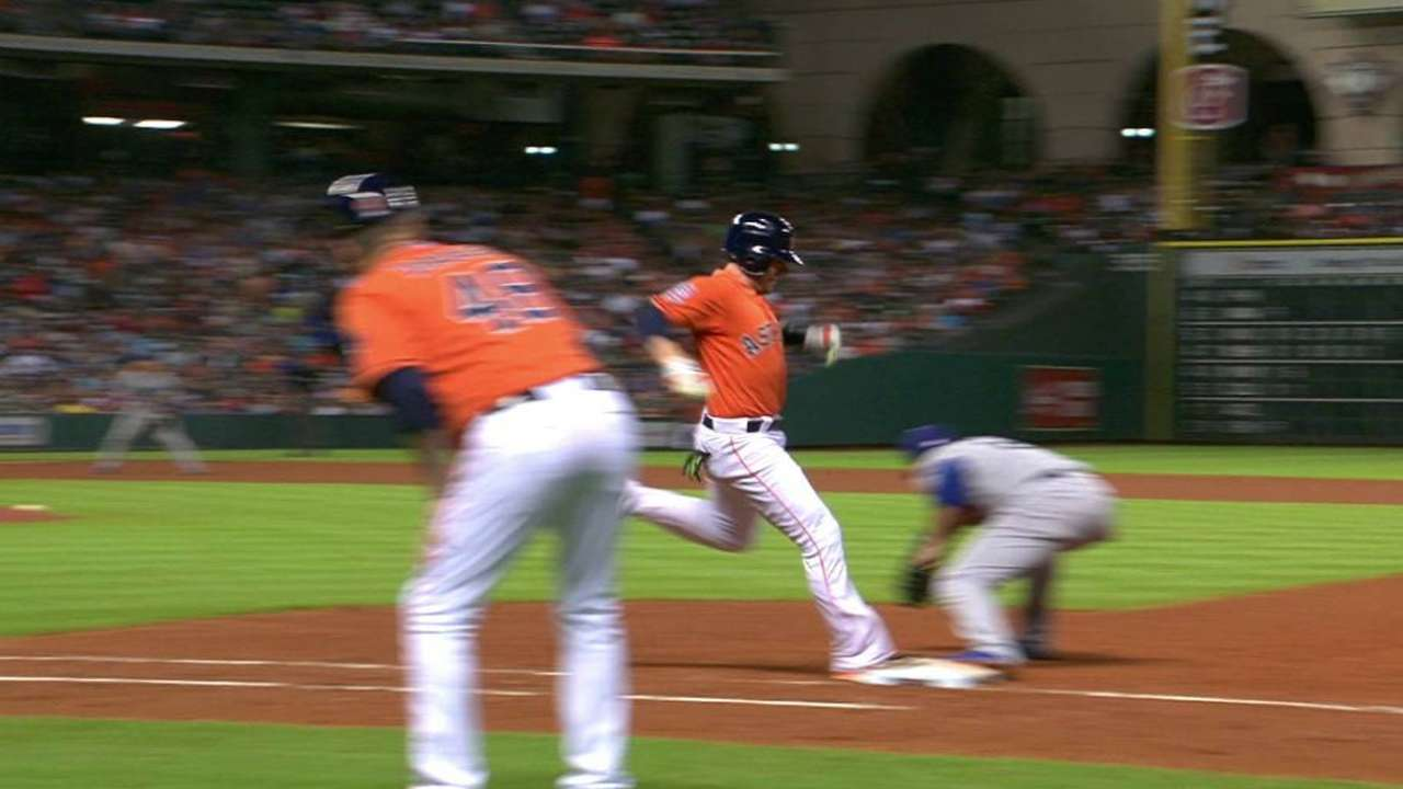 Astros challenge in 6th