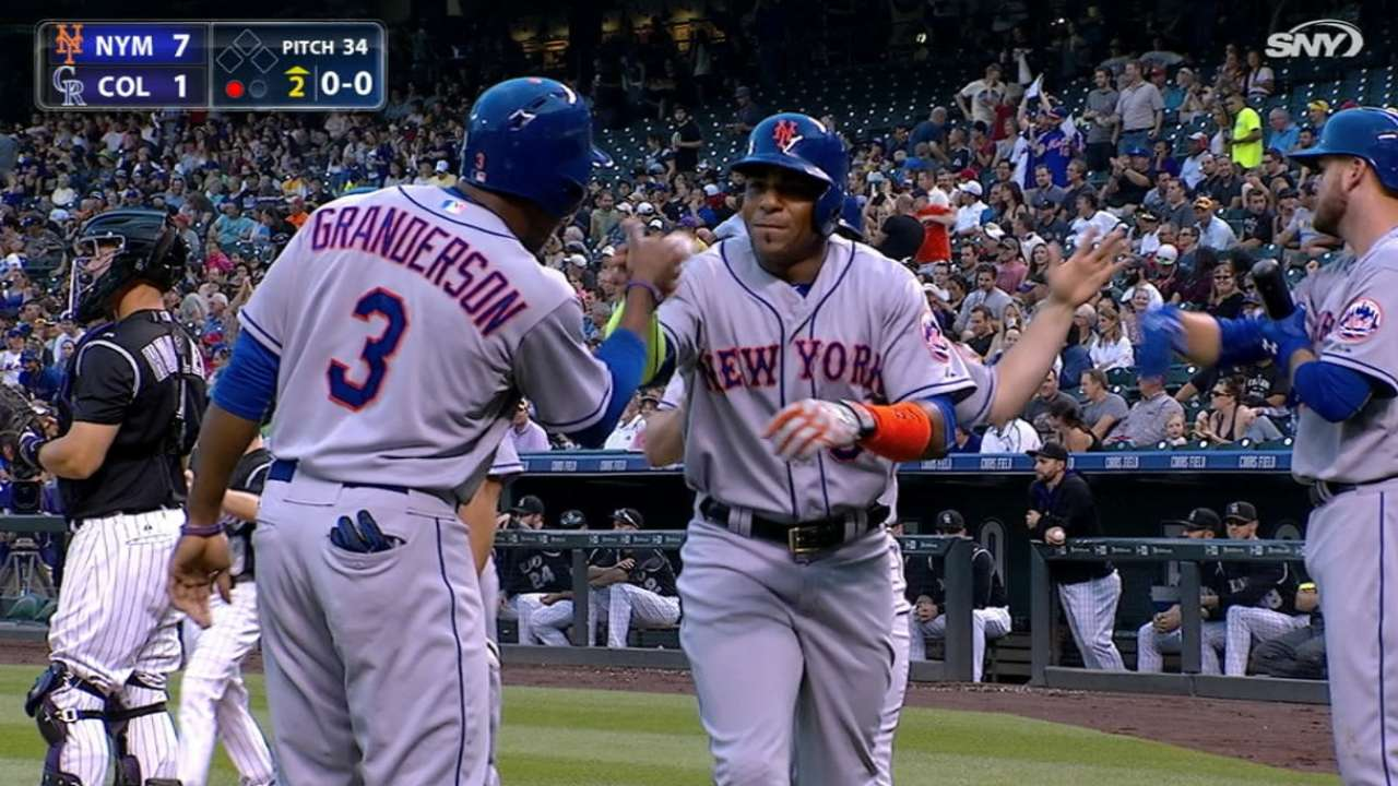 Mets' six-run inning